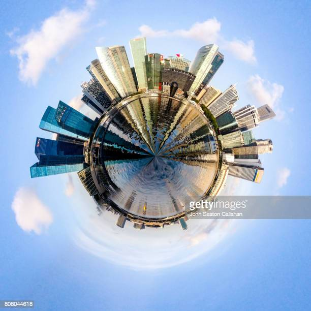 singapore, marina bay - stereoscopic images stock photos and pictures