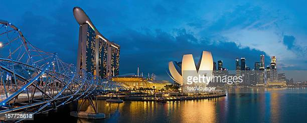 Singapore Marine Bay Sands illuminated