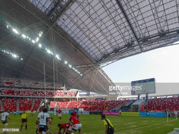 Singapore National Stadium Singapore Singapore Architect Arup Associates 2014 View though stadium during sports event