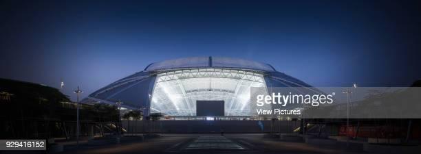 Singapore National Stadium Singapore Singapore Architect Arup Associates 2014 Atmospheric night elevation