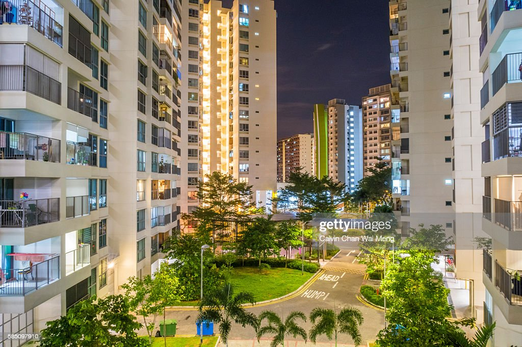 Singapore new residential housing in Tampines : Stock Photo
