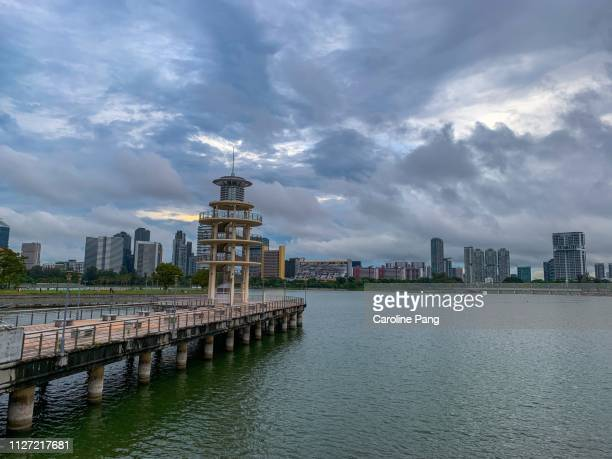 Singapore on a cloudy day