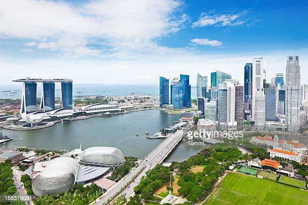 singapore panorama - singapore stock photos and pictures