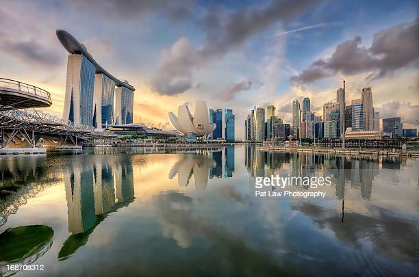 singapore - marina bay sands stock photos and pictures