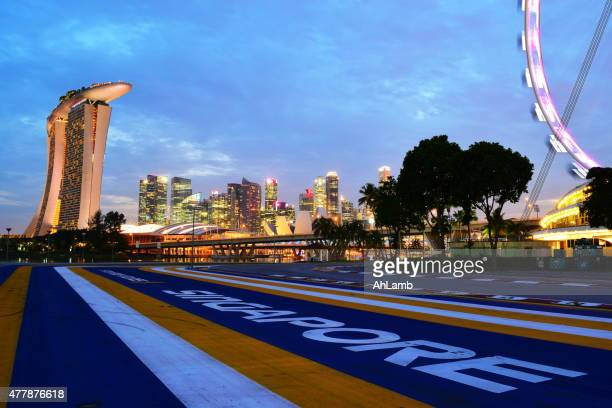 singapore - formula one racing stock pictures, royalty-free photos & images