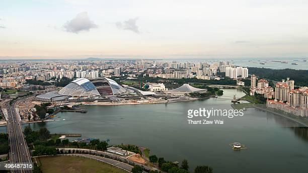 singapore - singapore sports hub fotografías e imágenes de stock