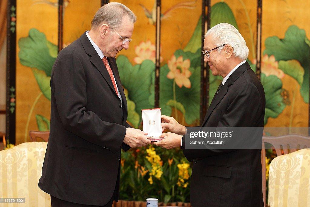IOC President Jacques Rogge Visits President Tony Tan Keng Yam
