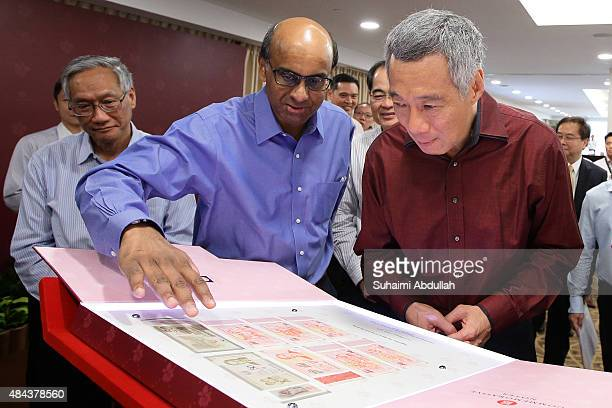 Singapore Prime Minister Lee Hsien Loong and Singapore Deputy Prime Minister Minister for Finance and Chairman of Monetary Authority of Singapore...