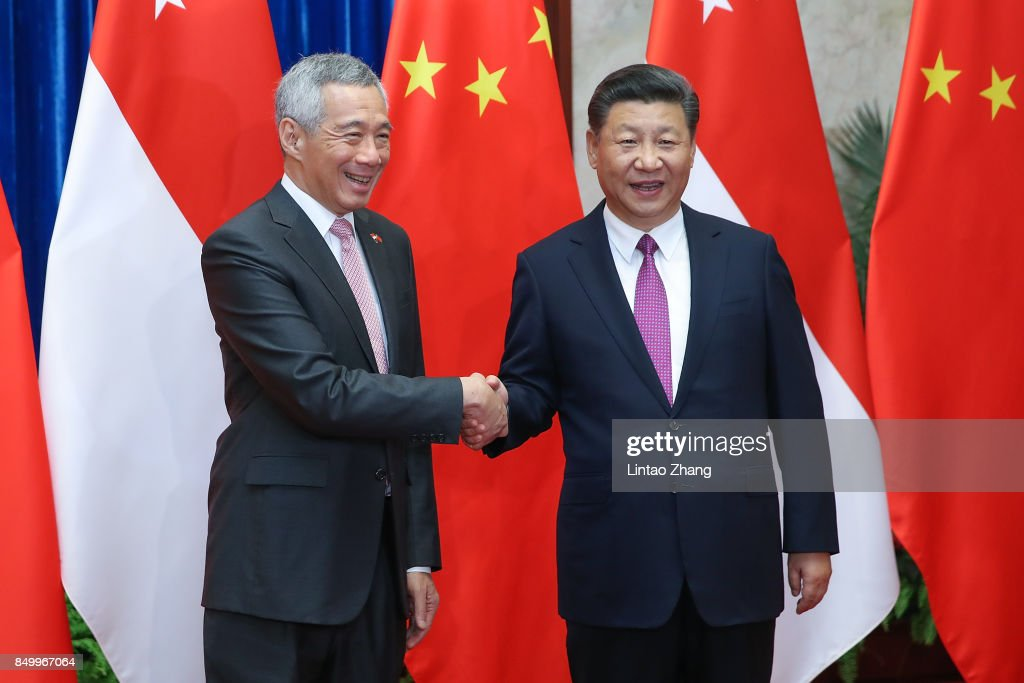 Singapore Prime Minister Lee Hsien Loong Visits China : News Photo