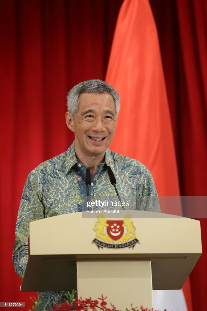 Singapore Prime Minister, Lee Hsien Loong speaks during the Joint Press Conference between Singapore and Indonesia at the Istana on September 7, 2017 in Singapore. Widodo is visiting Singapore for a two days Leaders' Retreat to mark 50 years of bilateral ties between the two countries.