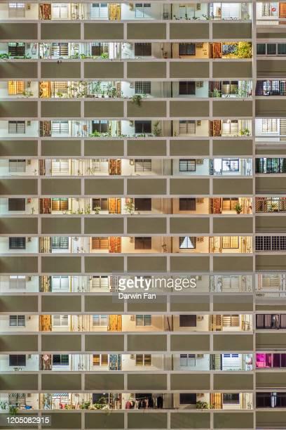 singapore public housing - singapore stock pictures, royalty-free photos & images