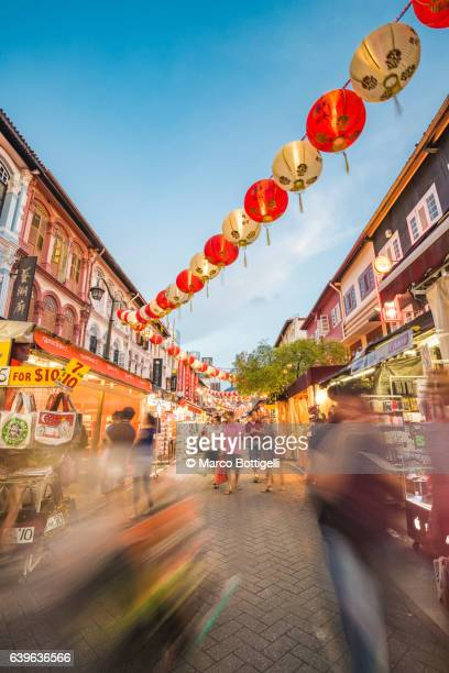 singapore, republic of singapore, southeast asia. - chinatown stock photos and pictures