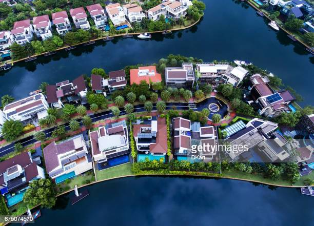Singapore Residential Area aerial view