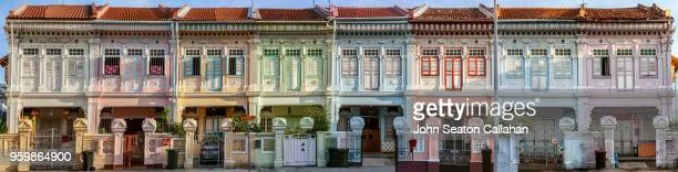 singapore, shophouses on koon seng road - social history stock pictures, royalty-free photos & images