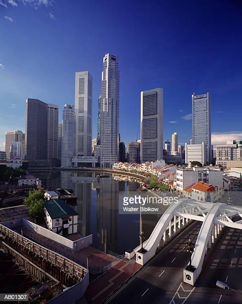 Singapore, Singapore River, Boat Quay and financial center