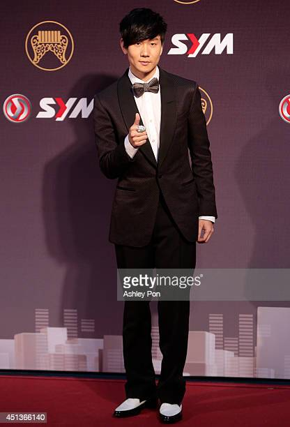 Singapore singer JJ Lin arrives at the 25th Golden Melody Awards event on June 28 2014 in Taipei Taiwan