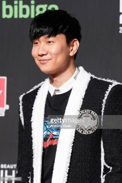 Singapore singer JJ Lin attends the 2018 Mnet Music Awards in Hong Kong at AsiaWorld–Expo on December 14 2018 in Hong Kong Hong Kong