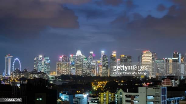 Singapore skyline and financial center