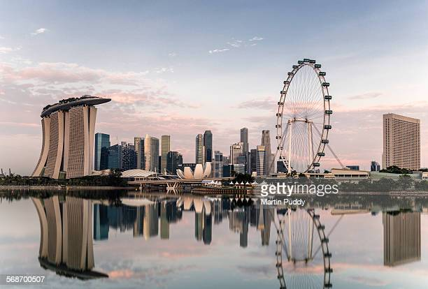 Singapore skyline at dawn