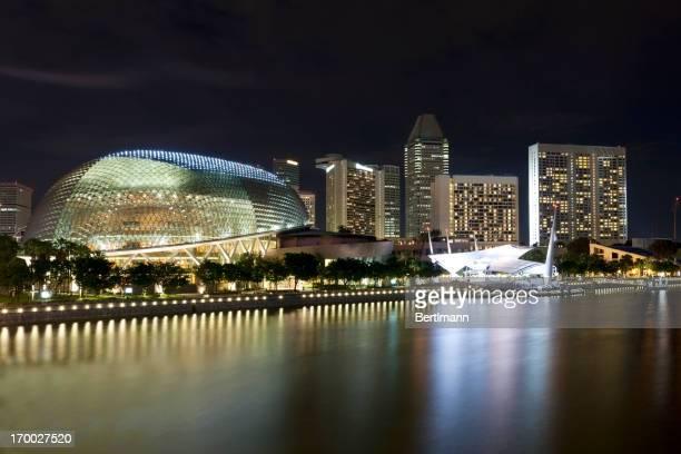 Panorama de Singapour de nuit