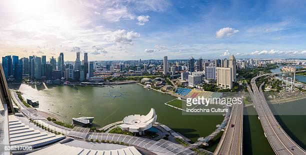 Singapore Skyline Panorama view