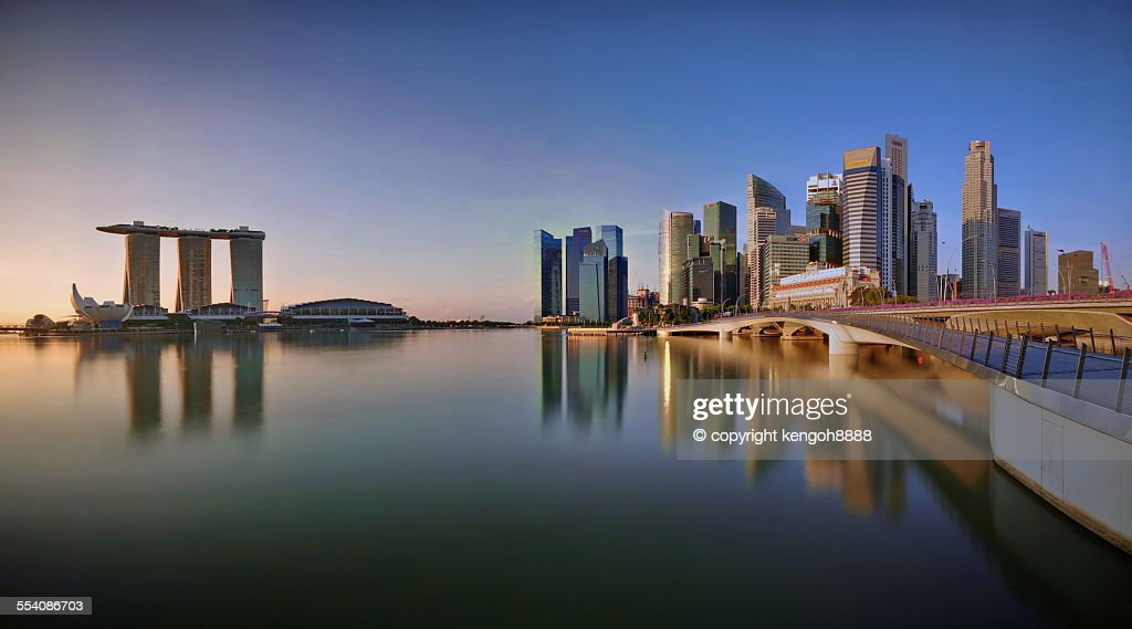 Singapore Skyline Panoramic View : Stock Photo