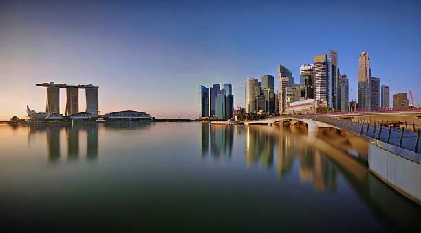 Singapore Skyline Panoramic View Wall Art