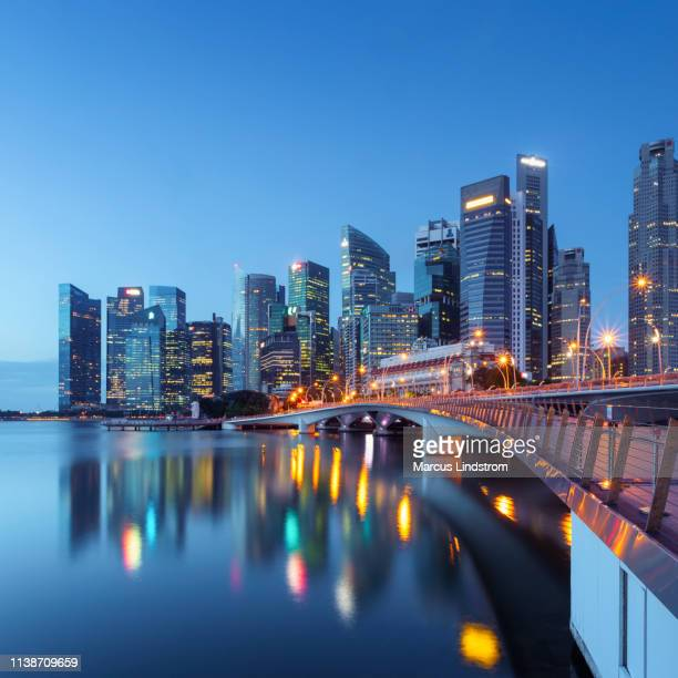singapore skyline - singapore city stock pictures, royalty-free photos & images