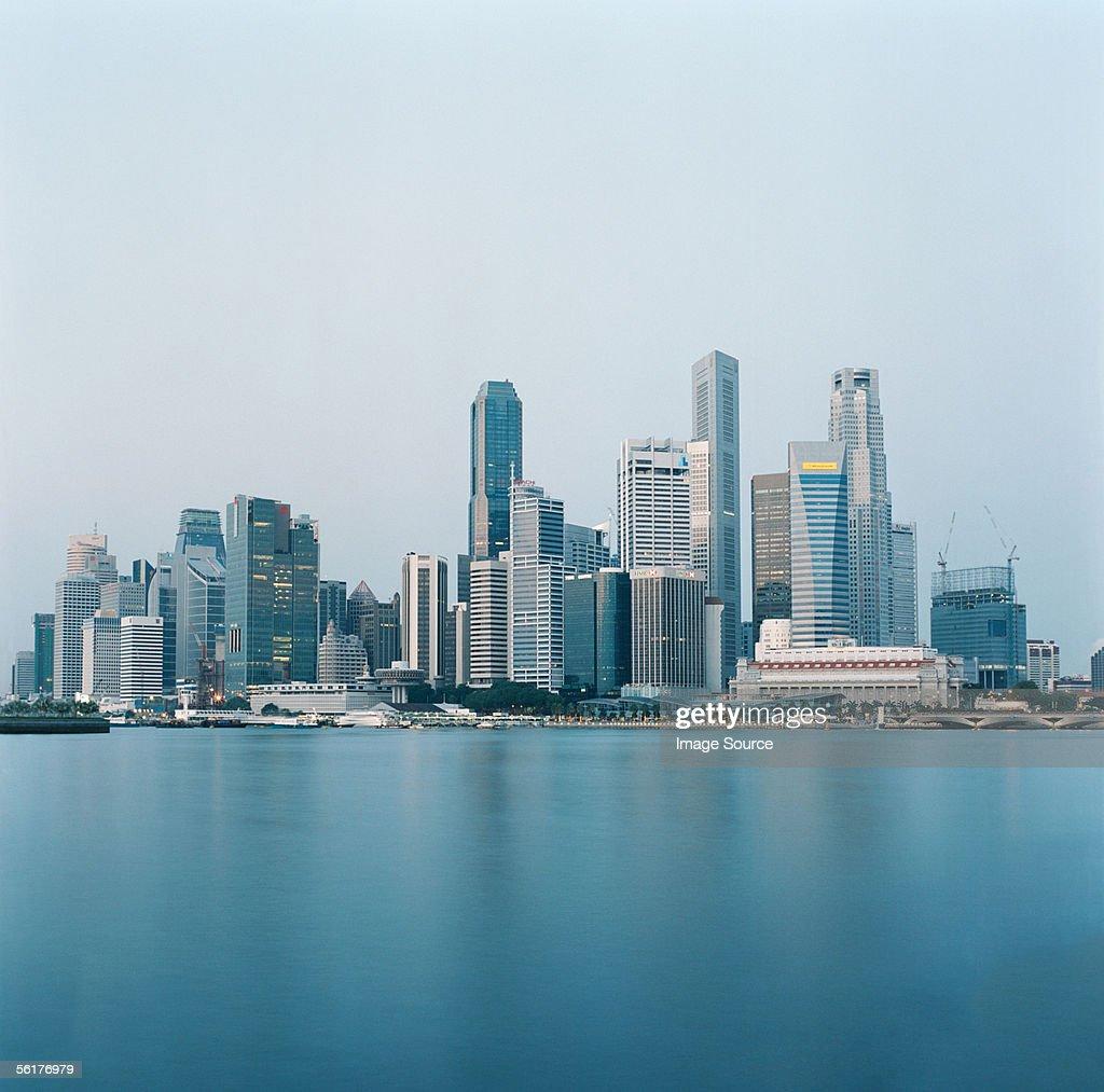 Singapore skyline : Bildbanksbilder