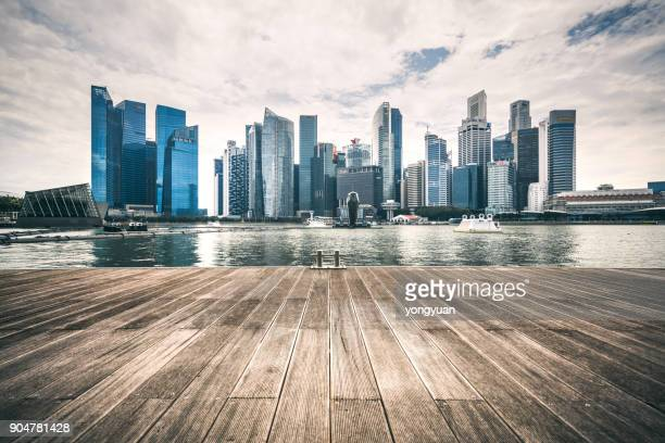 singapore skyline - skyline stock pictures, royalty-free photos & images