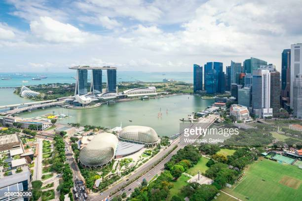 singapore skyline - singapore stock pictures, royalty-free photos & images