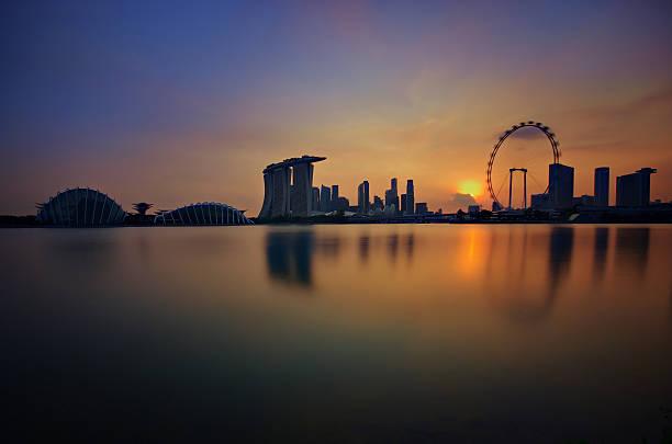 Singapore Skyline Sunset Wall Art