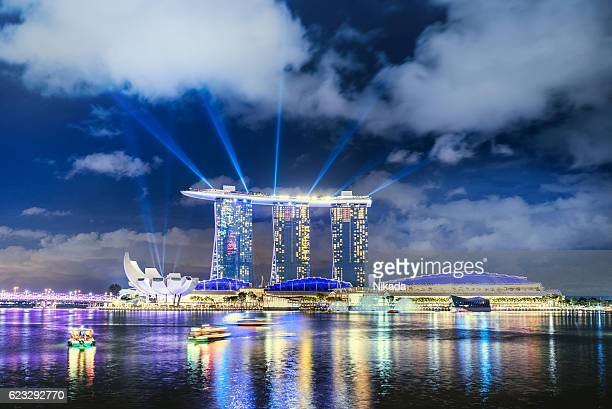 Singapore Skyline with Marina Bay Sands Hotel, Singapore