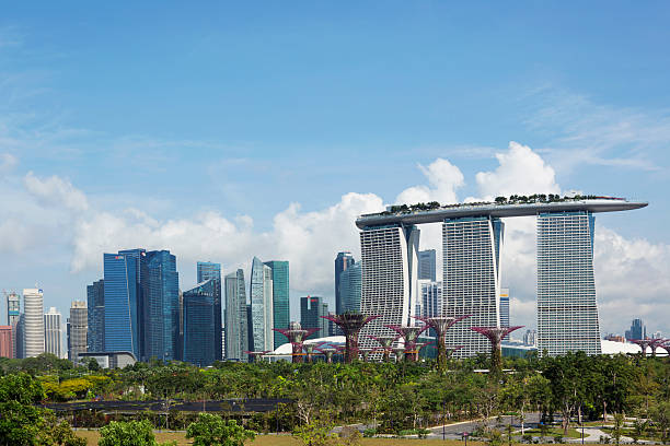 Singapore Skyline With Supertrees Wall Art