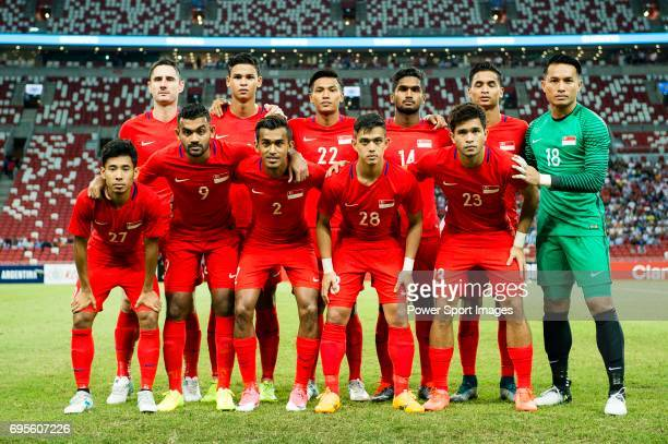 Singapore squad pose for photos during the International Test match between Argentina and Singapore at National Stadium on June 13 2017 in Singapore