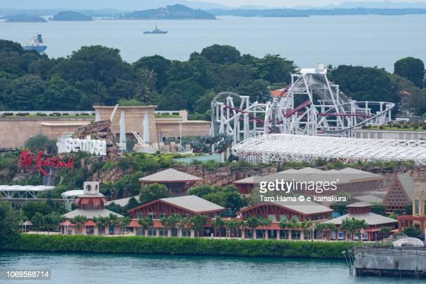 Singapore Strait and Sentosa Island in Singapore