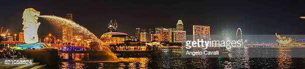 Singapore. The Merlion monument.
