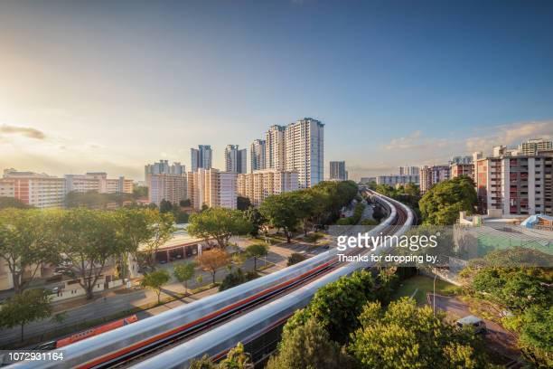 singapore urban skyline - republik singapur stock-fotos und bilder