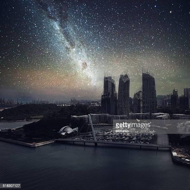 Singapour sans nuit de lumières