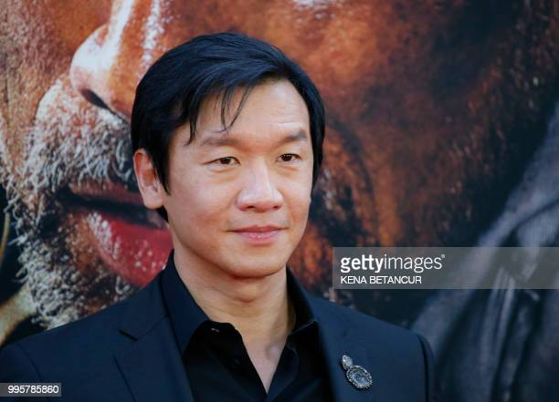 Singaporean actor Chin Han attends the premiere of 'Skyscraper' on July 10 2018 in New York City