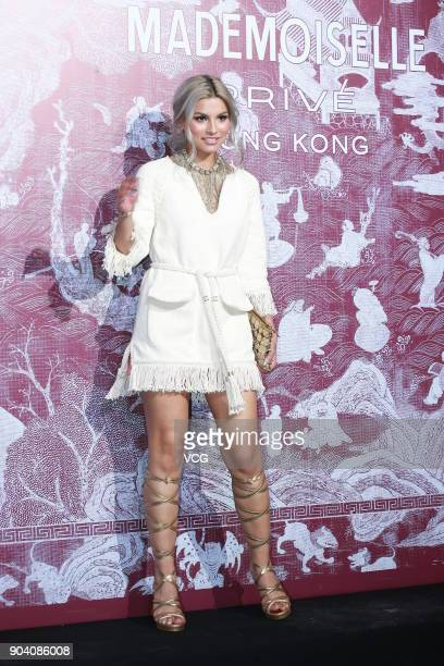 Singaporean singer Tabitha Nauser attends the CHANEL 'Mademoiselle Prive' Exhibition Opening Event on January 11 2018 in Hong Kong Hong Kong