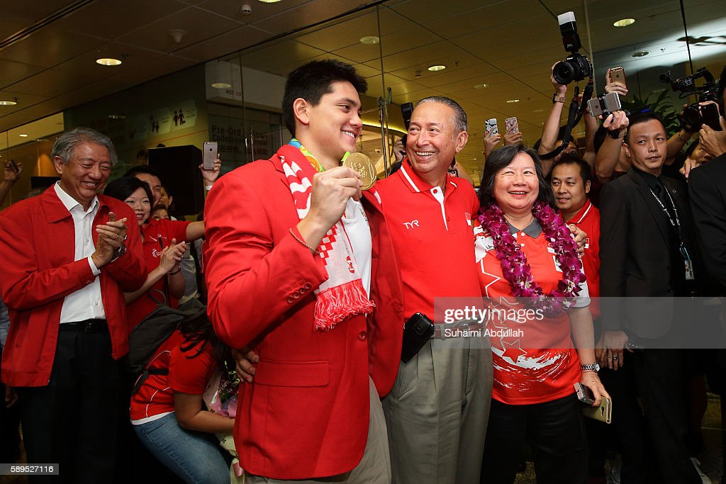 Joseph Schooling Returns To Singapore