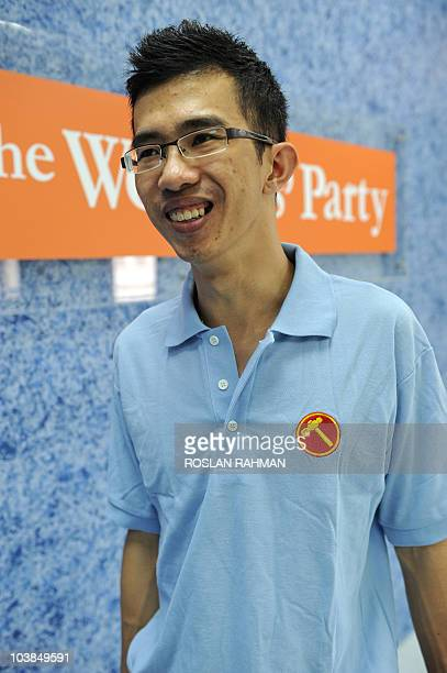 Singapore-politics-social-youth, FEATURE by Philip Lim This photo taken on September 1, 2010 shows undergraduate Bernard Chen of the Singapore...