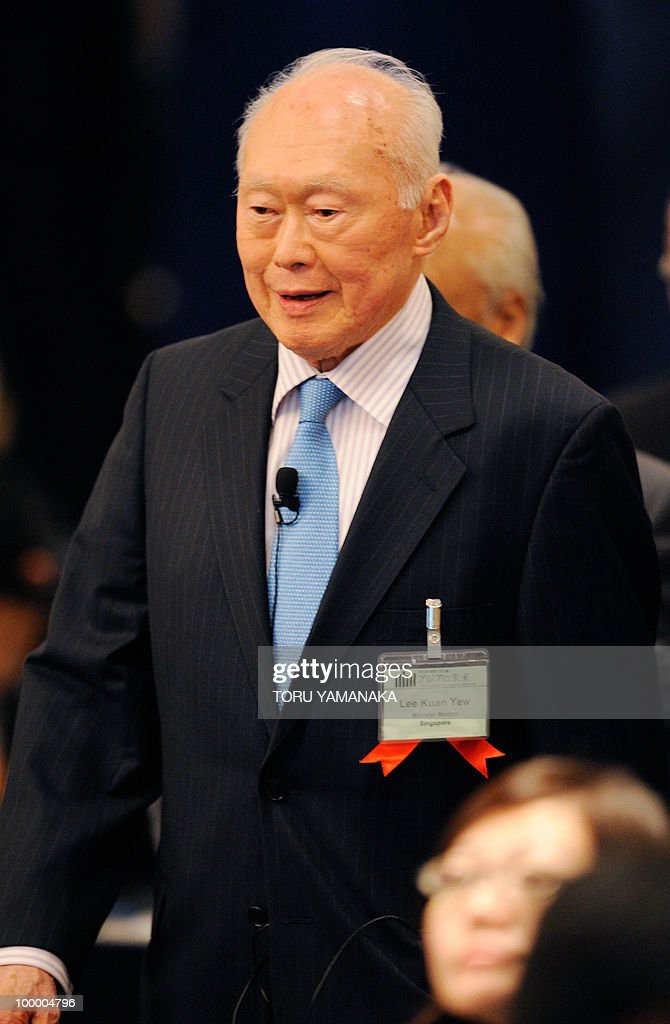 Singapore's former prime minister Lee Kuan Yew appears at an international conference in Tokyo on May 20, 2010. Asian political, diplomatic, business and academic leaders attend the two-day symposium, entitled 'The Future of Asia.' AFP PHOTO/Toru YAMANAKA