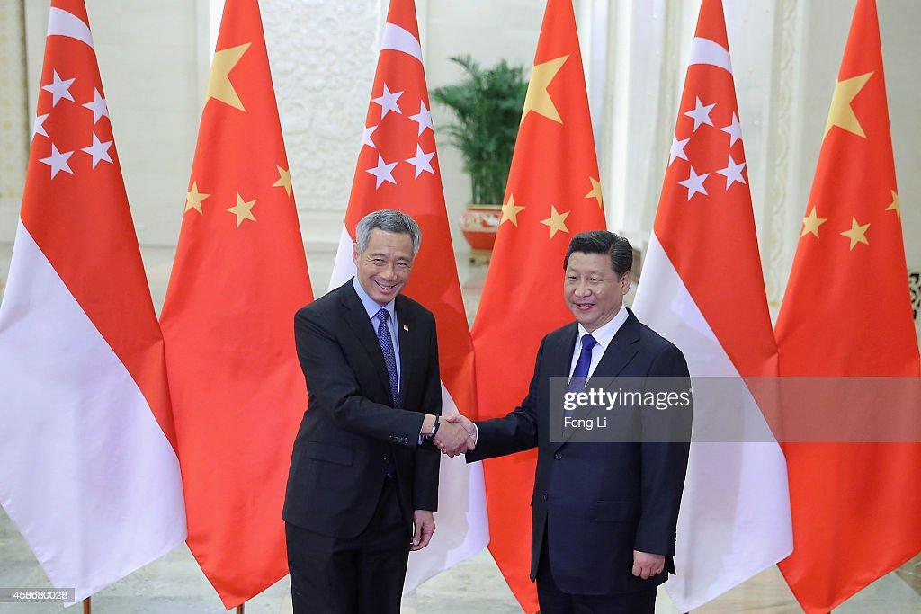 APAC Bilateral Meeting - China & Singapore : News Photo