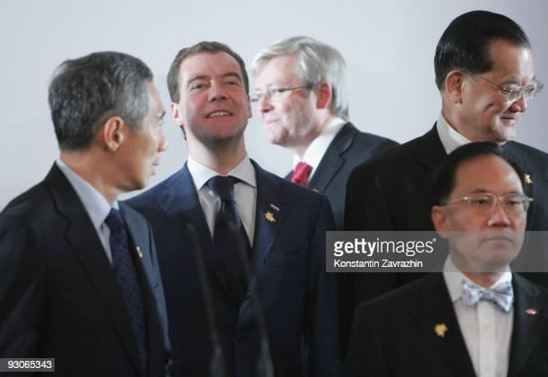 Singapore's Prime Minister Lee Hsien Loong , Russian President Dmitry Medvedev,Australia's Prime Minister Kevin Rudd Taiwan's former Vice-President...