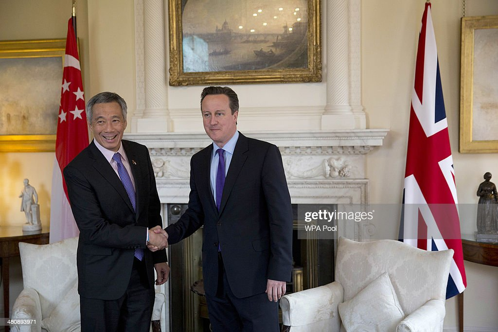 Prime Minster Lee Hsien Loong Of Singapore Visits Downing Street