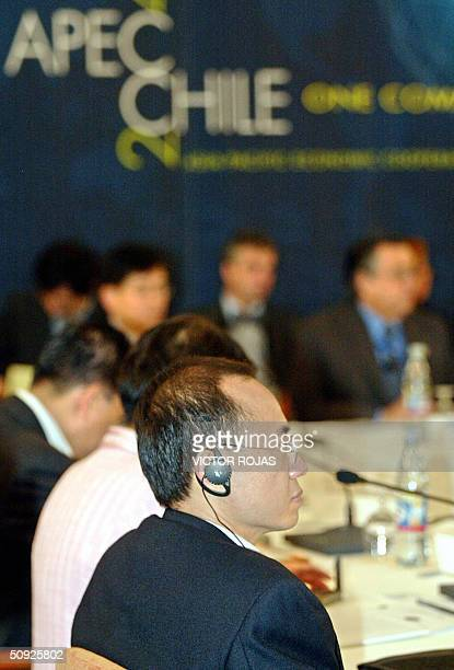 Singapore's Trade Minister Yong Bon Yeo attends the opening session of the APEC meeting in Pucon Chile 04 June 2004 Trade ministers of 21 AsiaPacific...