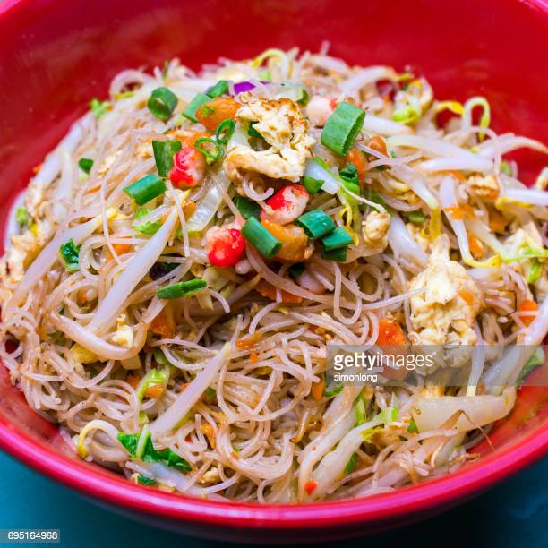 Singapore-style fried rice noodles
