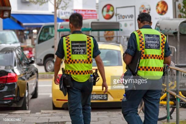Singaporian auxiliary policemen